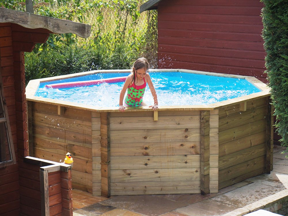 10ft X 36 In X 91cm Plastica Octagonal Wooden Fun Pool