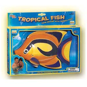 9 inch battery operated tropical swimming pool fish for Battery operated fish