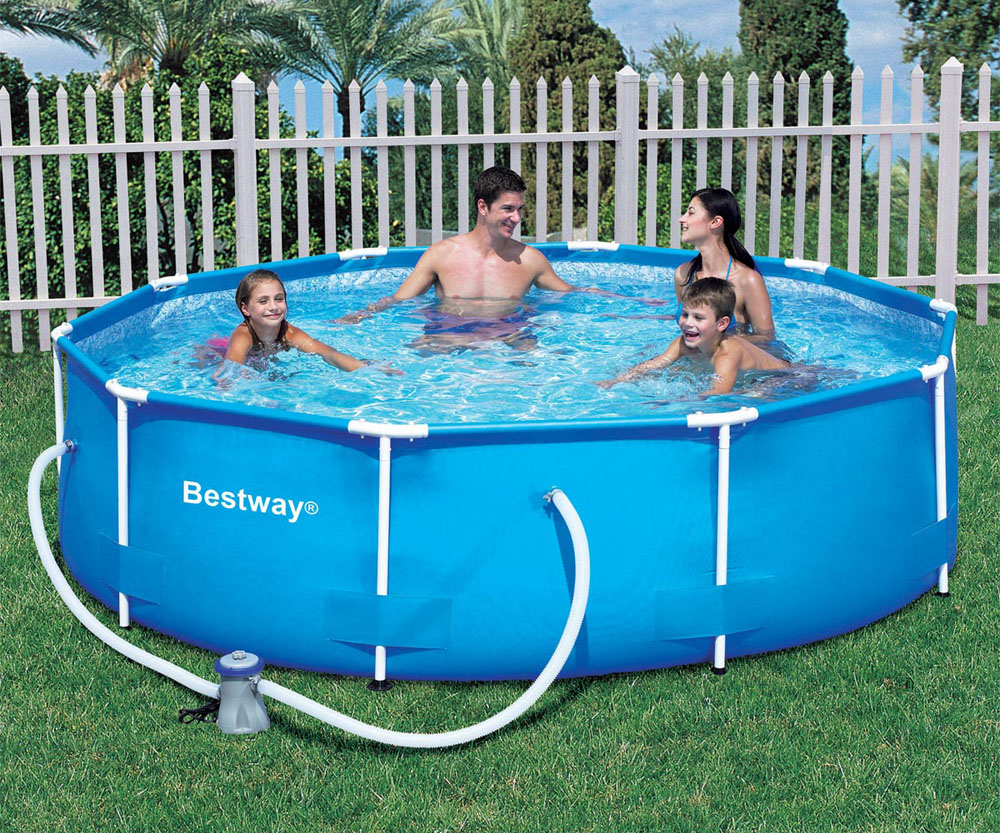 Bestway 12ft x 30in steel pro frame garden pool for Bestway pool obi