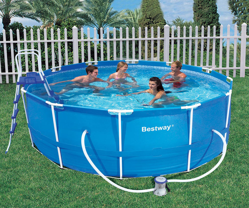 Bestway 12ft x 48in deep steel pro frame above ground for Bestway pool obi