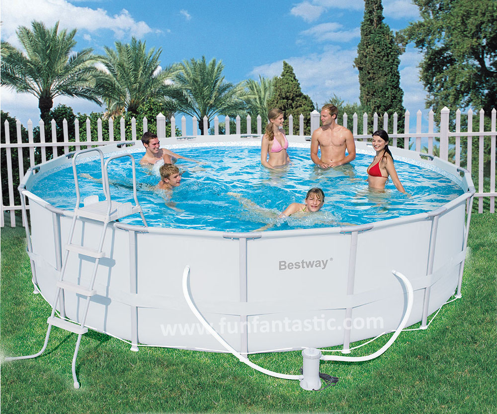 Bestway 16ft x 48in steel pro frame garden pool for The garden pool
