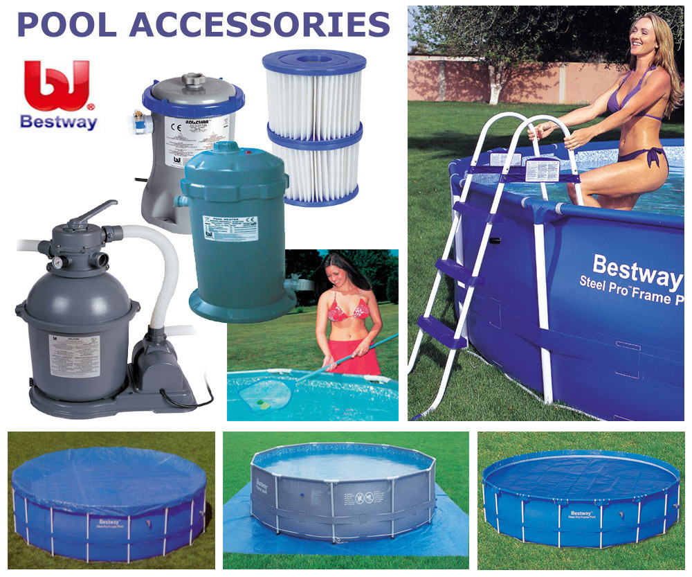 Bestway 16ft x10ft x 42in oval fast set above ground for Garten pool set 500