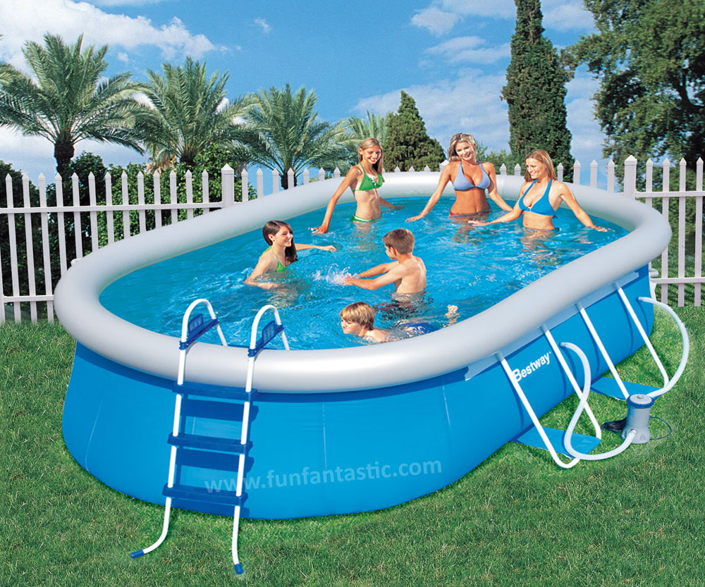 Bestway 16ft x10ft x 42in oval fast set above ground for Above ground pools quick set