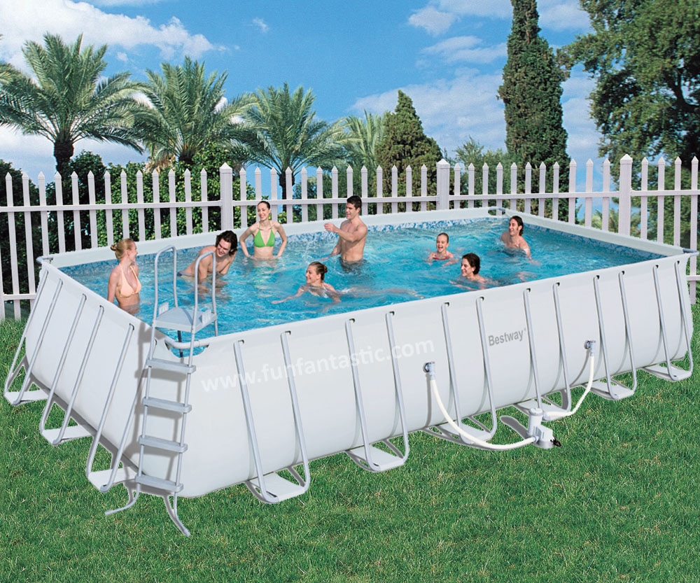 Bestway 24ft x 12ft x 52in steel pro frame rectangular pool - Steel frame pool ...