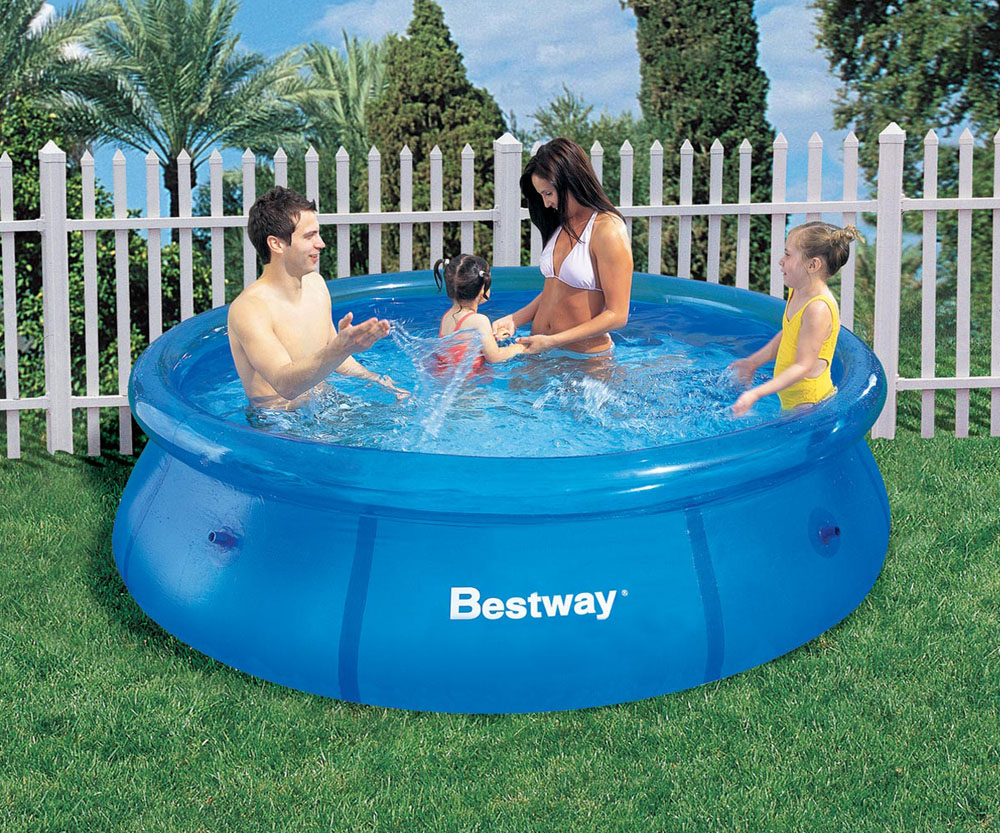 Bestway Pool 8ft X 26 Inch Fast Set Inflatable Ring Above Ground Splasher Pool