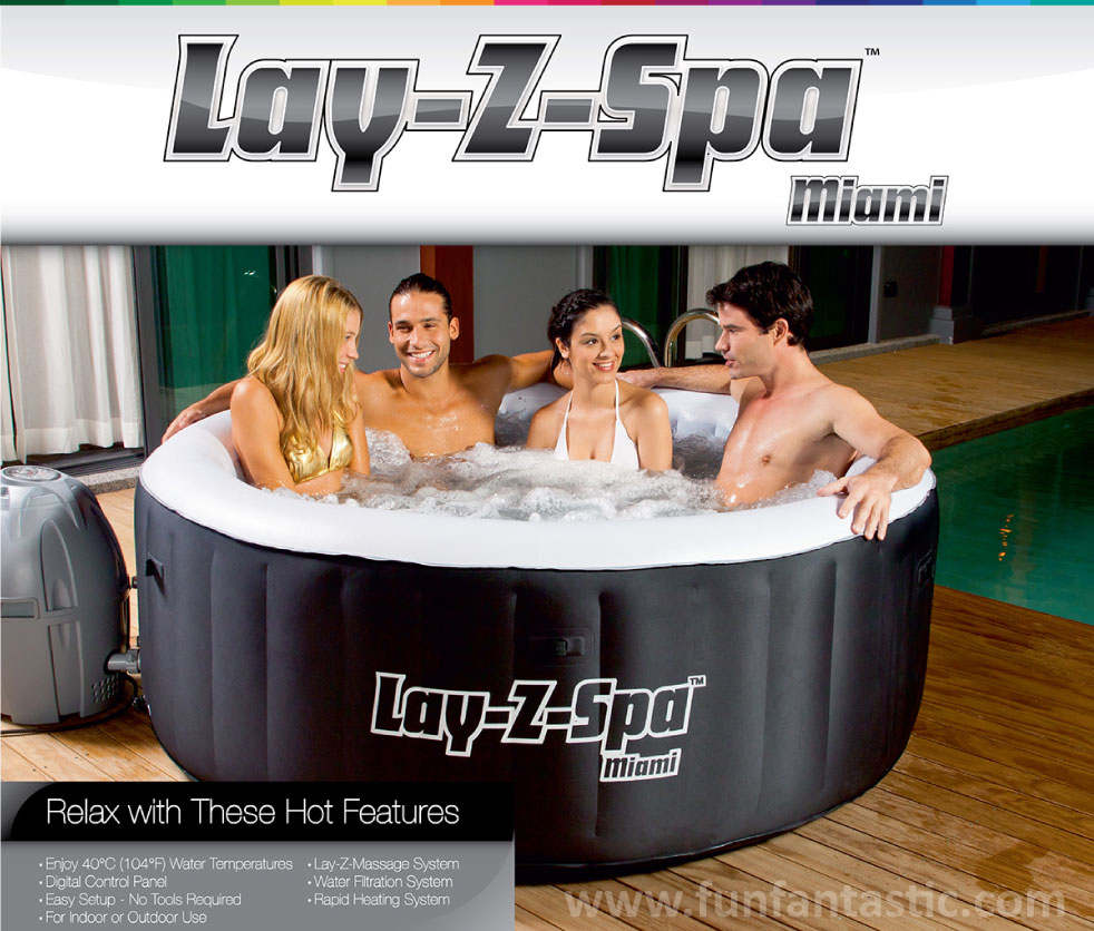 bestway lay z spa miami series. Black Bedroom Furniture Sets. Home Design Ideas