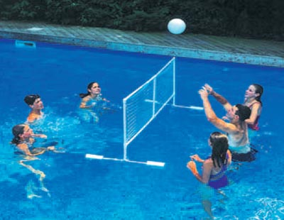 Floating swimline super volleyball swimming pool game for Replacement volleyball net for swimming pool