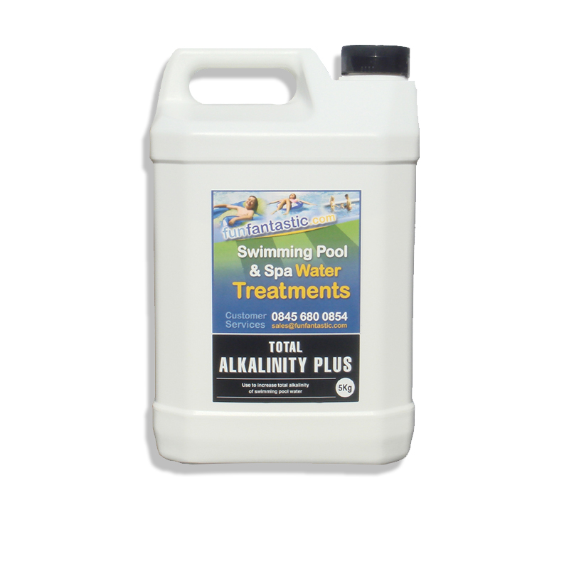 Total alkalinity increaser ta plus fun fantastic pool spa hot tub chemicals sodium bicarbonate Swimming pool high alkalinity