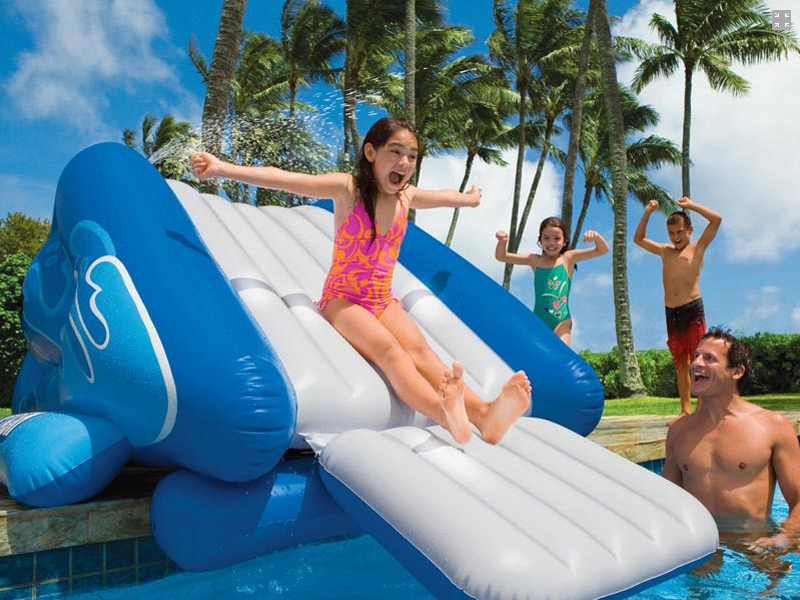 Intex Inflatable Slide In Ground Swimming Pool Toy