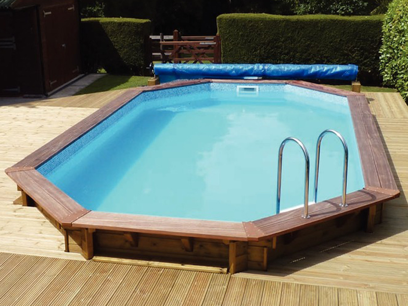 Wood Swimming Pool : Plastica m belgravia premium wooden swimming pool