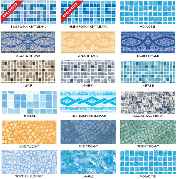 Plastica Alkorplan 30 thou (0.75mm) Patterned Swimming Pool Liners